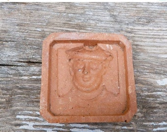 ON SALE Vintage 1930 French  Marin / character  pattern clay molder