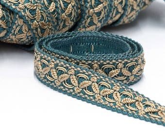 Blue Classic Vintage Trim by the Yard - Passementerie Trim - Upholstery Trim - French Passementerie - Home Decor Trim