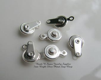 Silver Snap Clasp 7mm -  6 Clasp