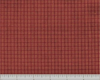 Half Yard Homespun Fabric-Prairie Wovens-Pam Buda Marcus-Orange Plaid