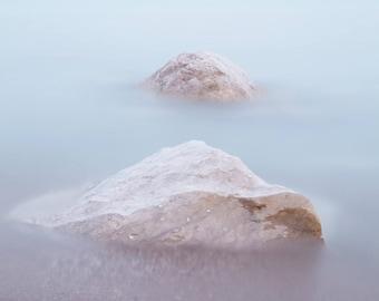 Coastal Landscape Photography - Beach Art Photography - Lake Huron Photography - Large Landscape Beach Picture - Blue Coastal Wall Art Print
