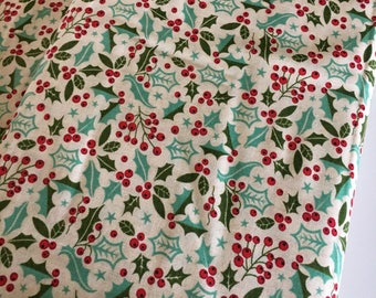 Berry Merry Fabric, Christmas Fabric, Christmas Quilting fabric, Quilt fabric, Craft fabric, Berry Merry Holly in Green, choose the cut