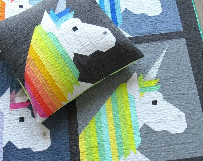 Unicorn quilt pattern, Lisa the Unicorn, Elizabeth Hartman Pattern, Baby Quilt, Animal Quilt, Woodland Animals, Unicorn decor party