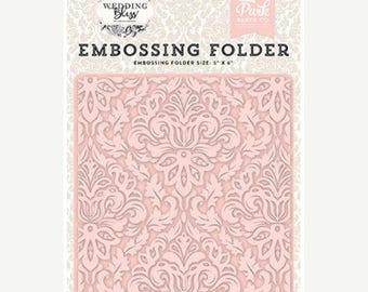 NOW ON SALE Echo Park Wedding Bliss Dainty Damask Embossing Folder