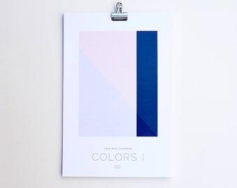 2018 Wall Calendar - Colors I