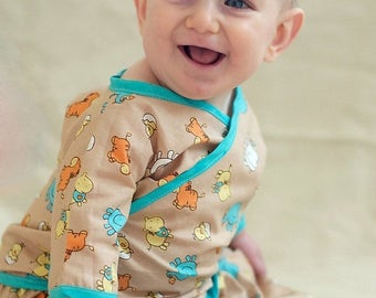 SALE Kimono Pattern for Babies -- 0m - 24m PDF Instant by Whimsy Couture