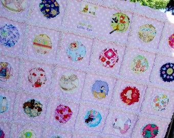 Handmade Rag Quilt ~I Spy With My Little Eye~ Baby Girl/Toddler