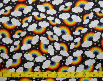 CUSTOM Reusable Cloth Menstrual Pad - You Pick Backing - Rainbows on Black
