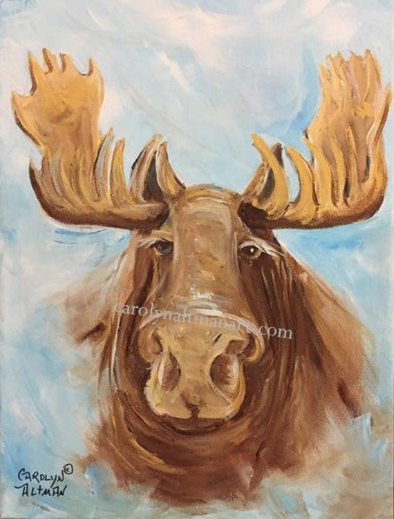 Mystic Moose - original painting