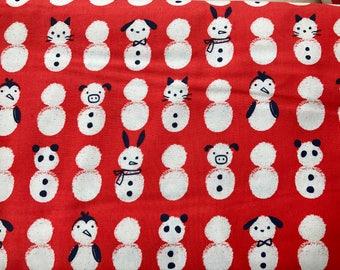 Cotton + Steel Snow Babies Red Noel 100% Cotton Fabric