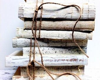 Farmhouse decor rustic country, 3 to 5 Books, Wedding Decor, modern farmhouse,Vintage, Minimal, chippy, Bridal Shower, Decorative Books