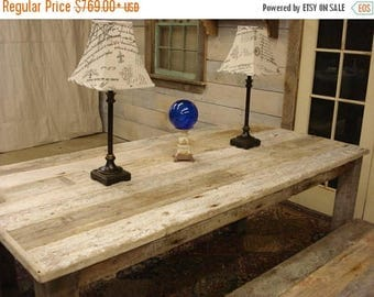"ON SALE Driftwood Plank Dining Set: Table (54""L x 24""W x 30""h) and Bench (42"" x 15"" x 17""h) Custom request new picts soon"