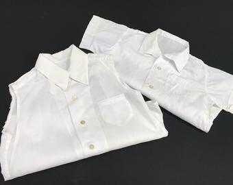 Pair of Vintage White Baby Shirts