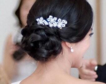 3 Bridal Snowflake Swarovski Crystal Hair Pin