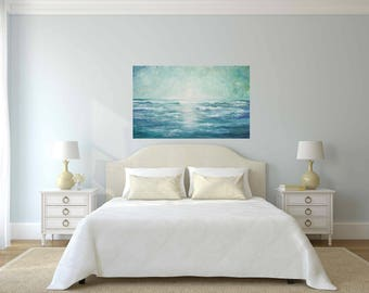 ocean painting seascape wall art original oil  ocean waves Marems