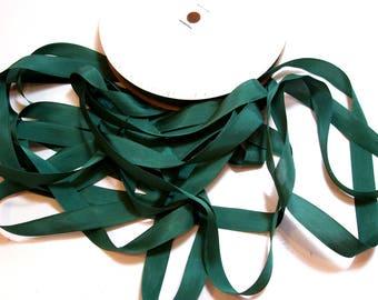 Green Ribbon, Pine Green Rayon Seam Binding 1/2 inch wide x 100 yards, Unbranded