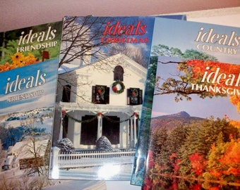 Five IDEALS Themes..Christmas, Country, Friendship1979-1995