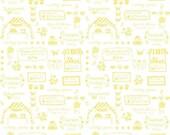 ON SALE Tasha Noel Vintage Market Text Yellow