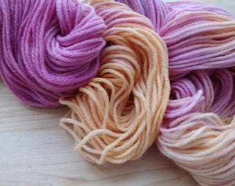 Hand Dyed Yarn - worsted weight - approx 220 yds