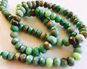 Faceted Chrysoprase Beads-7mm Chrysoprase Bead Strand