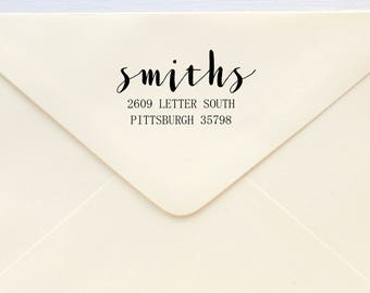 Return Address Stamp - Custom Address Stamp - Custom Rubber Stamp - Personalised Address Stamp - Gift - Hand Lettering Classic