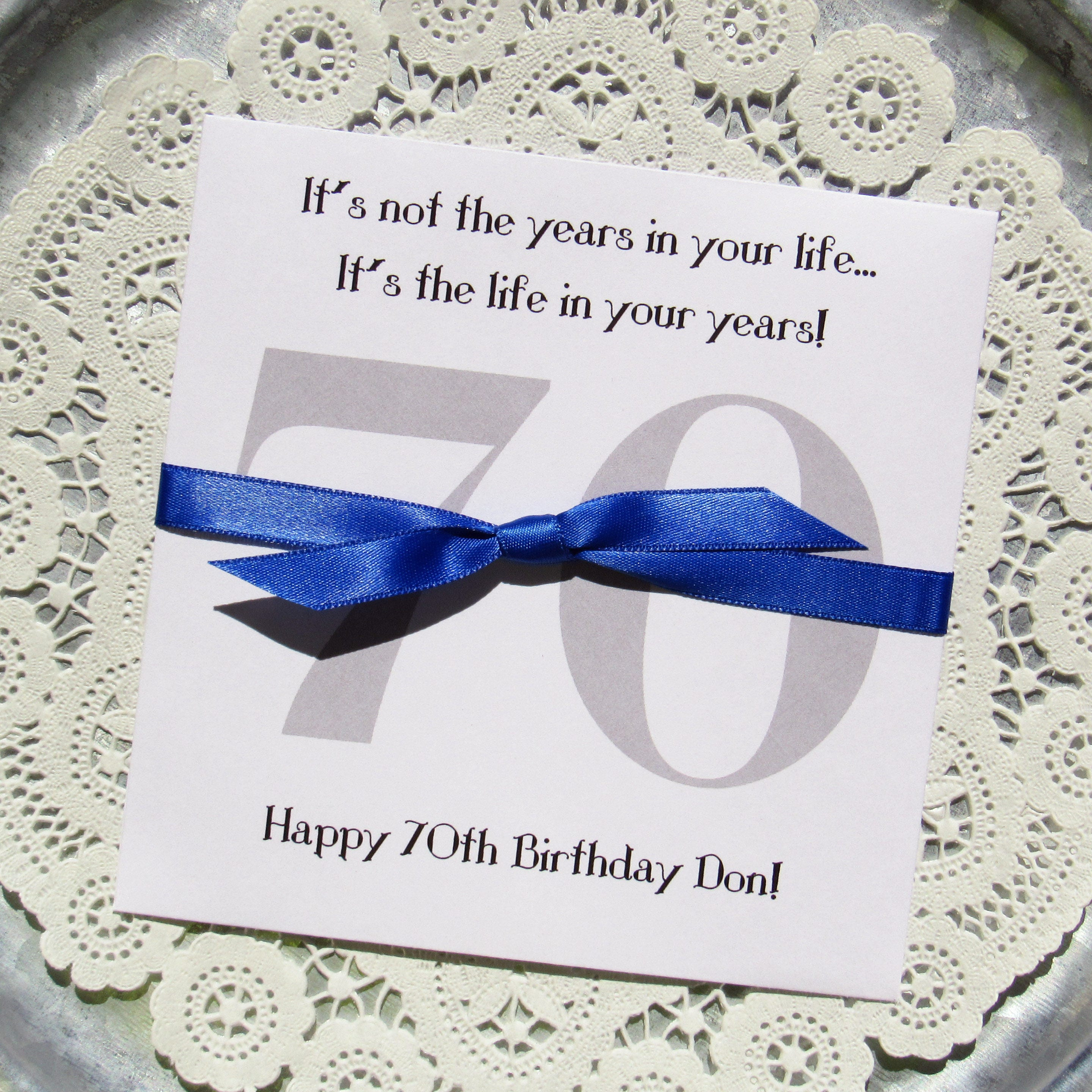 70th Birthday Party Favors Adult