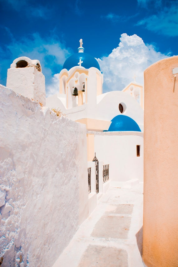 Blue photography, Fine art photography, Summer photography, Religious art, Blue decor, greek church, summer vacation, holidays