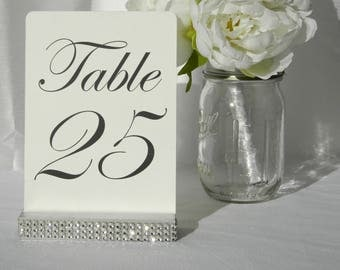 Silver Rhinestone Bling Table card holder (Set of 10)