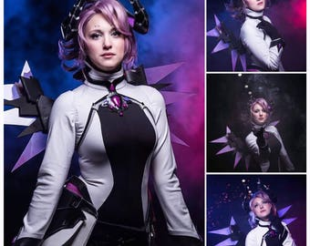CUSTOM*** Overwatch Imp Mercy Catsuit, Neck Piece, Tail and arm applique'