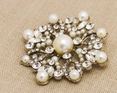 Wedding Pearl Brooch Large Rhinestone Brooch Statement Brooch Wedding Brooch Pearl Brooch Rhinestone Broach Bridal Brooch