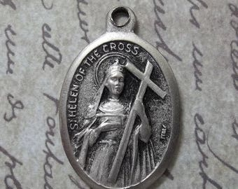 CLEARANCE SALE Saint Helen Of The Cross Patron Of Archeologists, Difficult Marriages, Converts, & Empresses Holy Italian Medal