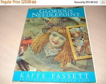 50% OFF SALE Vintage Glorious Needlepoint Book - Kaffe Fassett - Stichery - Needlework - Crewel - Artwork  - Crafts - 1987