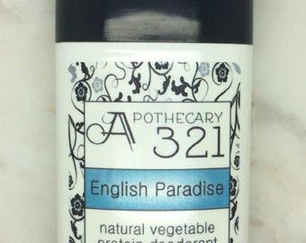 English Paradise Natural Deodorant, Aluminum Free, Paraben Free Vegan Deodorant Nice Floral Scented