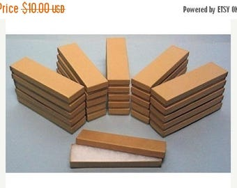 memorial day sale 20 Pack Kraft Cotton Filled Presentation Jewelry Boxes 8 X 2 X 1 Inch Size