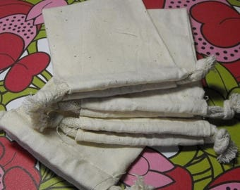 New Years Sale 10 Pack Drawstring 4X6 Inch Natural Muslin Bags great for Gift Wrapping, Reusable Tea bags, or Sachets
