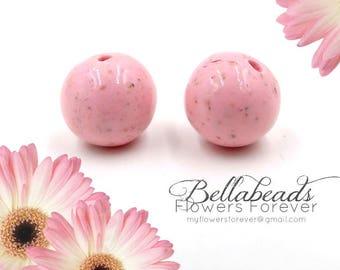 Flower Petal Jewelry, Memorial Beads Flower Petal Jewelry, Memorial Jewelry, Memorial Gift Idea, Single Round Beads 12MM
