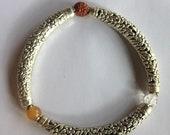 Godhead Trinity Yogic Stretch Bangle Sacred Stone Bracelet