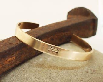 Bronze Equality Bracelet, Bronze Cuff With Equal Sign, Men's Cuff, LGBTQ Jewelry, Men's Bronze Bracelet, Feminist Jewelry
