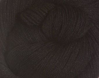 Real Black Cascade Heritage Yarn 437 yards Super Fine Wool Nylon Sock Yarn Color 5672