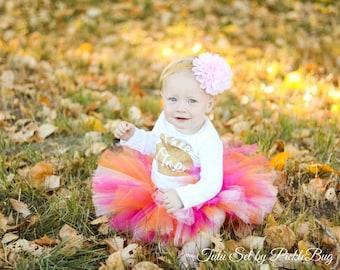 Little Pumpkin 1st Birthday Outift Girl, Cake Smash Outfit Girl, First Birthday Outfit Girl, 1st Birthday Tutu, First Birthday Tutu Skirt