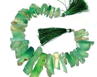 50% Off Sale Full 8 Inches - Green Agate Rough Cut Beads Size 24-30mm Approx Agate Rough Cut Beads, Semiprecious Beads, Gemstone Beads