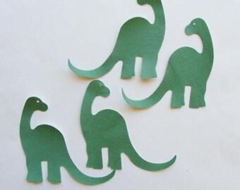 Dinosaurs Green Fabric Applique  Iron On 4 Piece Set