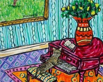 20 % off storewide bengal cat,cat art, cat tile, modern cat art,piano, tile, coaster, gift