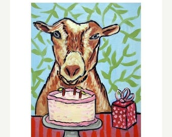 20% off Goat Birthday Art Print