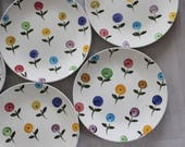 Stangl Posies Plates. 10 Pieces.
