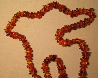 Vintage Polished Amber Chunky Beads with Barrel Clasp free shipping