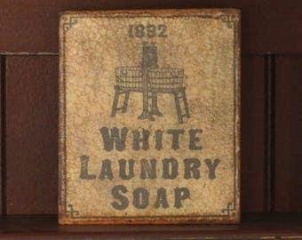 Wood Plaque Laundry Soap