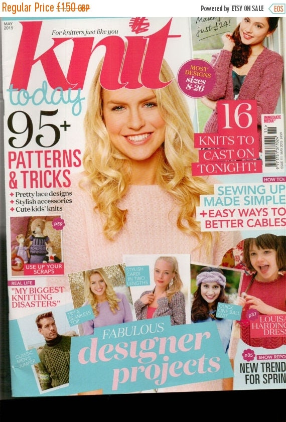 Christmas In July Knit Today Knitting Magazine Issue 111 May 2015