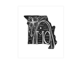 Missouri State Print // 1canoe2 // Modern Art Print