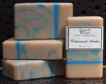 Cedarwood Amber Handmade Cold Process Artisan Soap